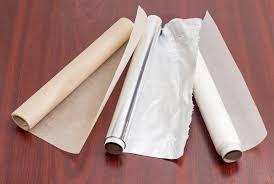 Пергамент, бумага для выпечки, фольга, пищевая пленка
